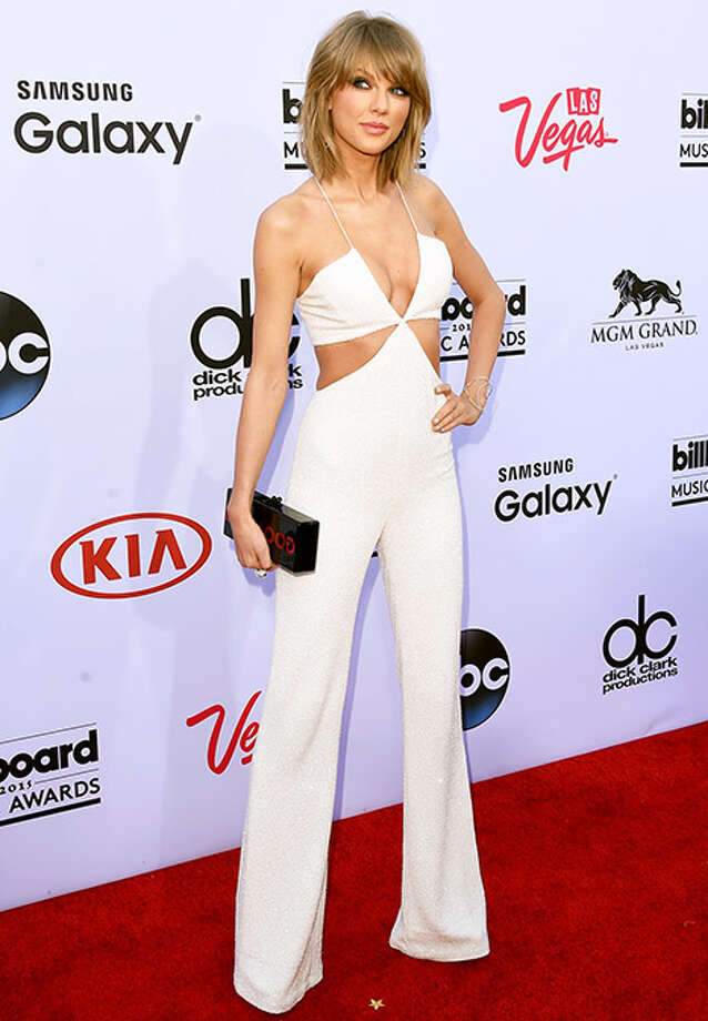 Taylor Swift arrives to the 2015 Billboard Music Awards. The singer was just named to the number one spot on Maxim Magazine's Hot 100.  / 2015 Getty Images
