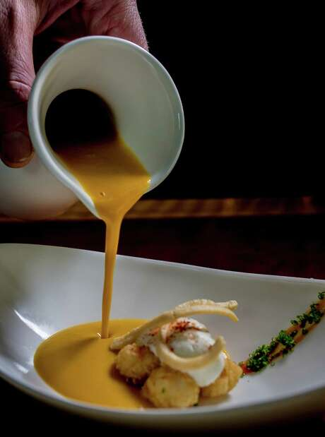 The roasted carrot soup comes with a bold hit of ginger in each bite. Photo: John Storey / Special To The Chronicle / ONLINE_YES