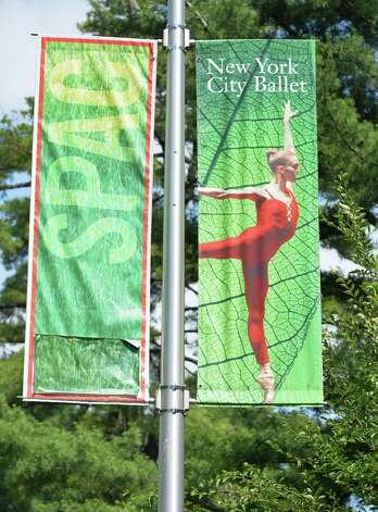 Banners for the New York City Ballet at Saratoga Performing Arts Center in preparation for the company's upcoming Saratoga season Wednesday July 2, 2014, in Saratoga Springs, NY.  (John Carl D'Annibale / Times Union) Photo: John Carl D'Annibale / 00027605A