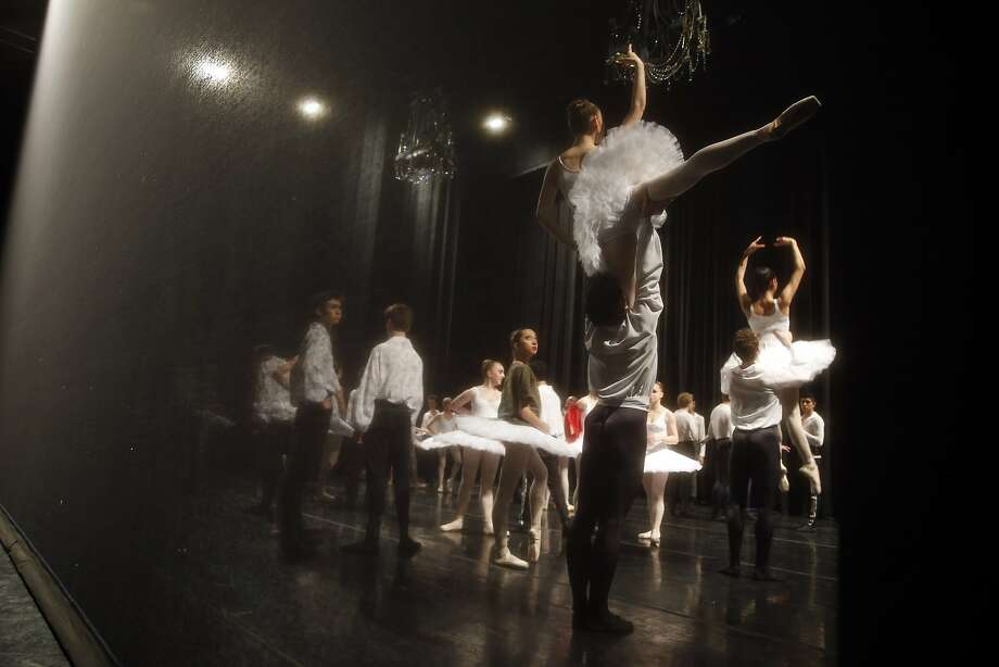 Dancers get ready for the curtain to go up during San Francisco Ballet's Student Showcase at Yerba Buena Gardens' Theater in San Francisco, Calif., on Wednesday, May 20, 2015. Photo: Scott Strazzante, The Chronicle
