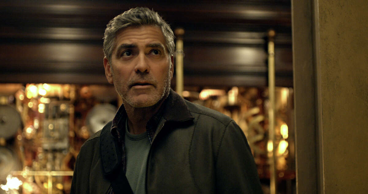 """George Clooney plays Frank Walker in Disney?'s ?""""Tomorrowland.?"""" Illustrates FILM-TOMORROWLAND-ADV22 (category e), by Stephanie Merry © 2015, The Washington Post. Moved Wednesday, May 20, 2015. (MUST CREDIT: Disney.)"""