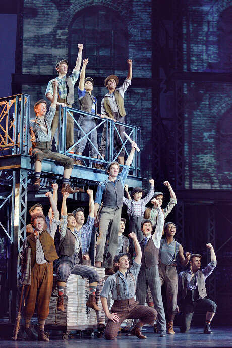 """Newsies"" is arguably the most successful of Disney's screen-to-stage adaptations. Photo: Deen Van Meer, Photographer / ©2014 photographer Deen van Meer, all rights reserved, photographer should be credited at all times"