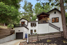 Oakland's 7245 Saroni Drive is a three-bedroom home fashioned similar to a Swiss Apline lodge.