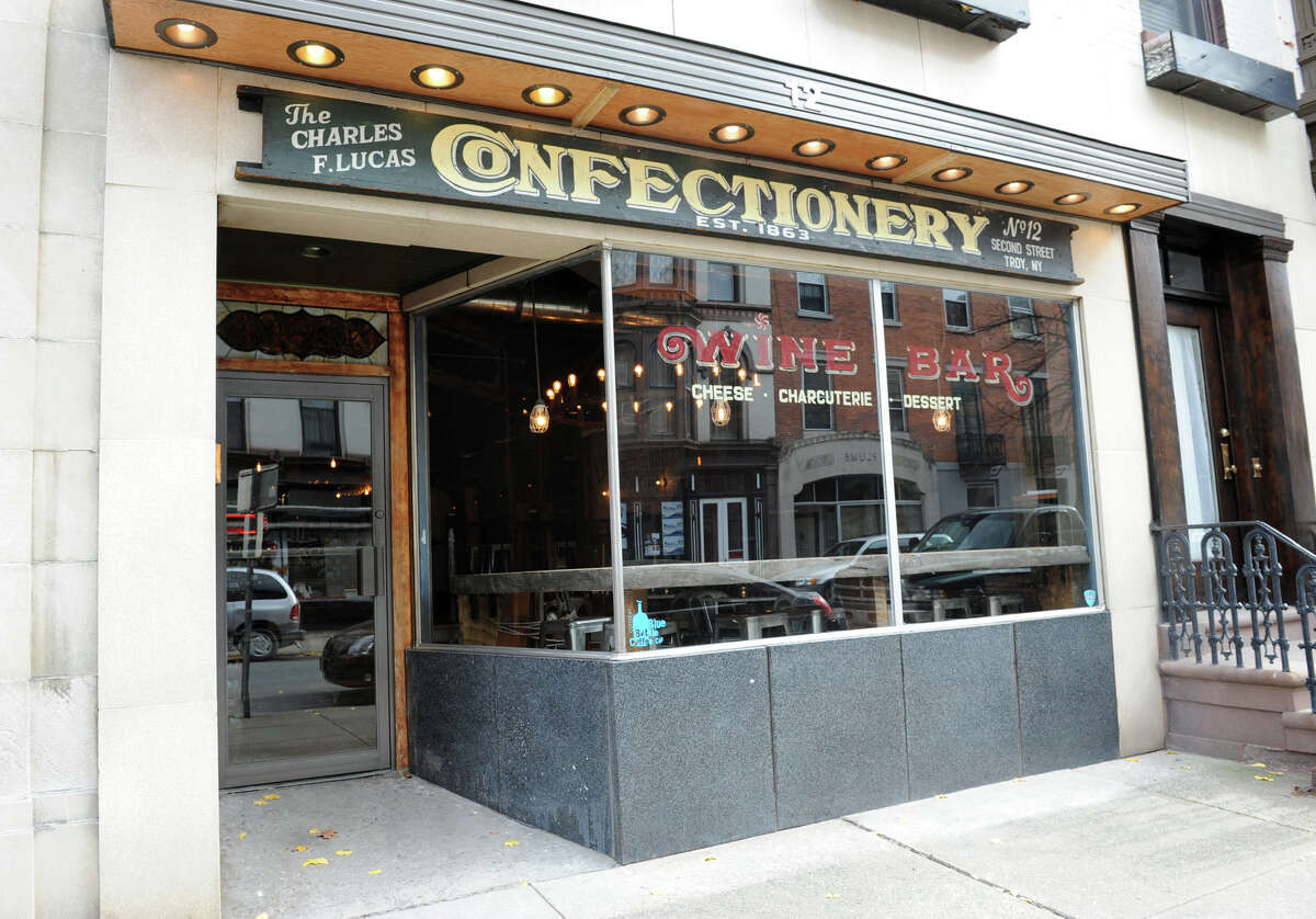 """Best bar for wine: 1. Lucas Confectionery """"inTroy."""