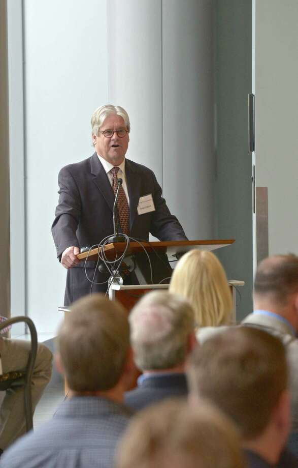 Hakan Edstrom, President, CEO and Director of MannKind Corporation, speaks at its annual stockholders meeting on Thursday, May 21, 2015. MannKind Corp. recently gained approval from the FDA for a new form of insulin. On Thursday May 21, 2015, in Danbury, Conn. Photo: H John Voorhees III / The News-Times