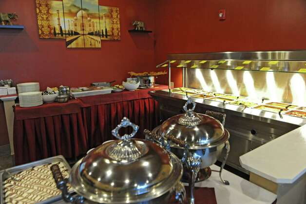 Buffet area at Spicy Mint Indian Cuisine on Tuesday, April 14, 2015 in Colonie, N.Y. (Lori Van Buren / Times Union) ORG XMIT: MER2015041511001844 Photo: Lori Van Buren / 00031421A