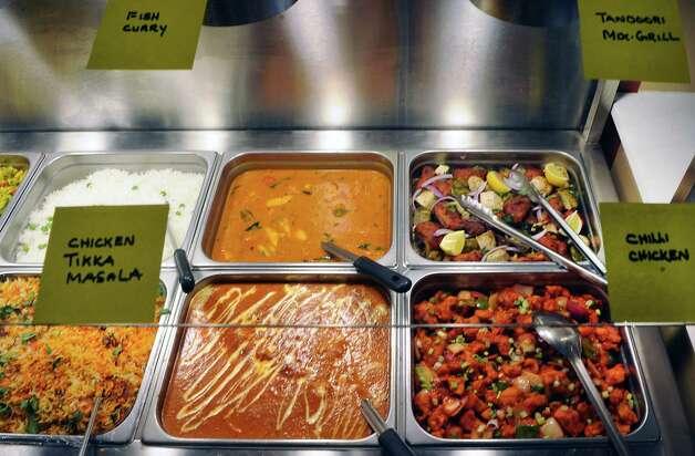 Food on the buffet at Spicy Mint Indian Cuisine on Tuesday, April 14, 2015 in Colonie, N.Y. (Lori Van Buren / Times Union) ORG XMIT: MER2015041511000539 Photo: Lori Van Buren / 00031421A