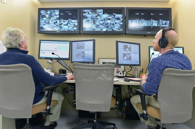 Students are monitored in the control room during Albany Medical College's Standardized Patient program Thursday March 19, 2015 in Albany, NY.  (John Carl D'Annibale / Times Union) Photo: John Carl D'Annibale / 518Life / 00031014A