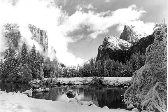 Yosemite Valley, in Yosemite National Park across the Merced River  Photo dated 04/14/1966  Photo courtesy of National Park Service  Photo ran 3/04/1990, P. 58, p. F6