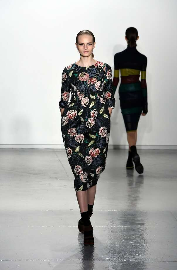 NEW YORK, NY - FEBRUARY 13:  A model walks the runway at the Suno fashion show during Mercedes-Benz Fashion Week Fall 2015 at Center 548 on February 13, 2015 in New York City.  (Photo by Noam Galai/Getty Images) Photo: Noam Galai, Getty Images