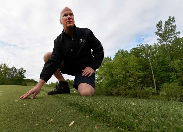 Joe Lucas, vice president, of greens and grounds at Saratoga National Golf Course inspects the course Wednesday morning May 20, 2015 in Saratoga Springs, N.Y.      (Skip Dickstein/Times Union) Photo: SKIP DICKSTEIN / 00031907A