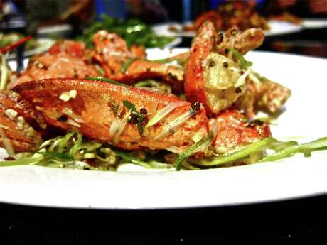 Live lobster with beer and black pepper at Hai Cang seafood restaurant.