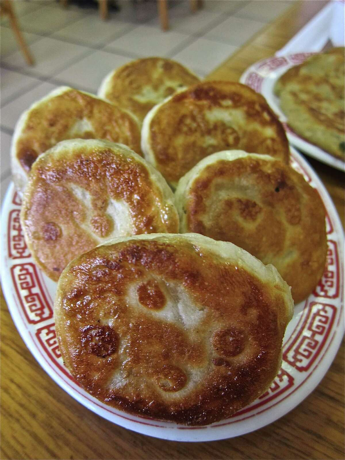 Pan-fried Pork Bun (bao) at Classic Kitchen.