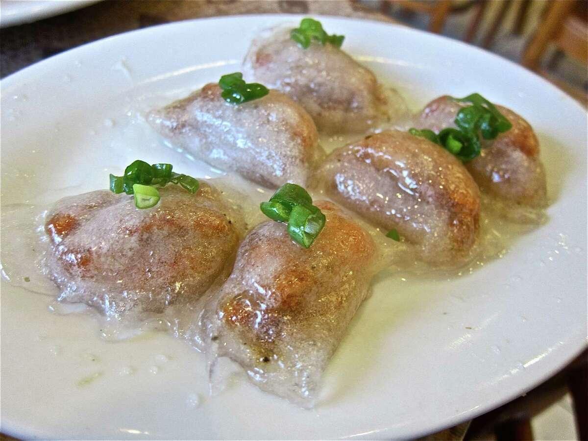 Pork and shrimp crystal dumplings at Nam Giao.