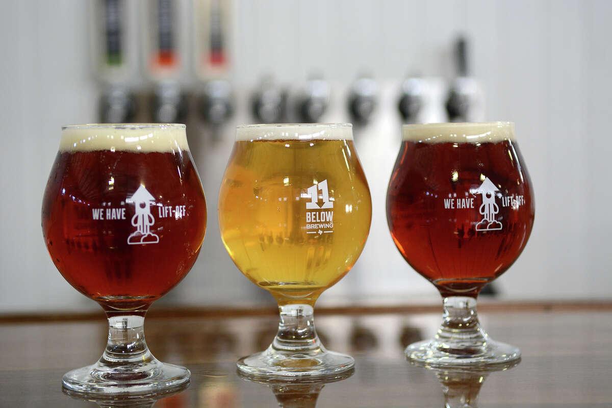11 Below Brewing Company's lineup of beers