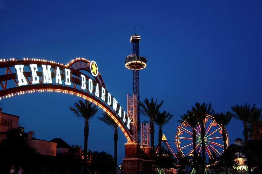The Kemah Boardwalk is a popular attraction in the Bay Area.