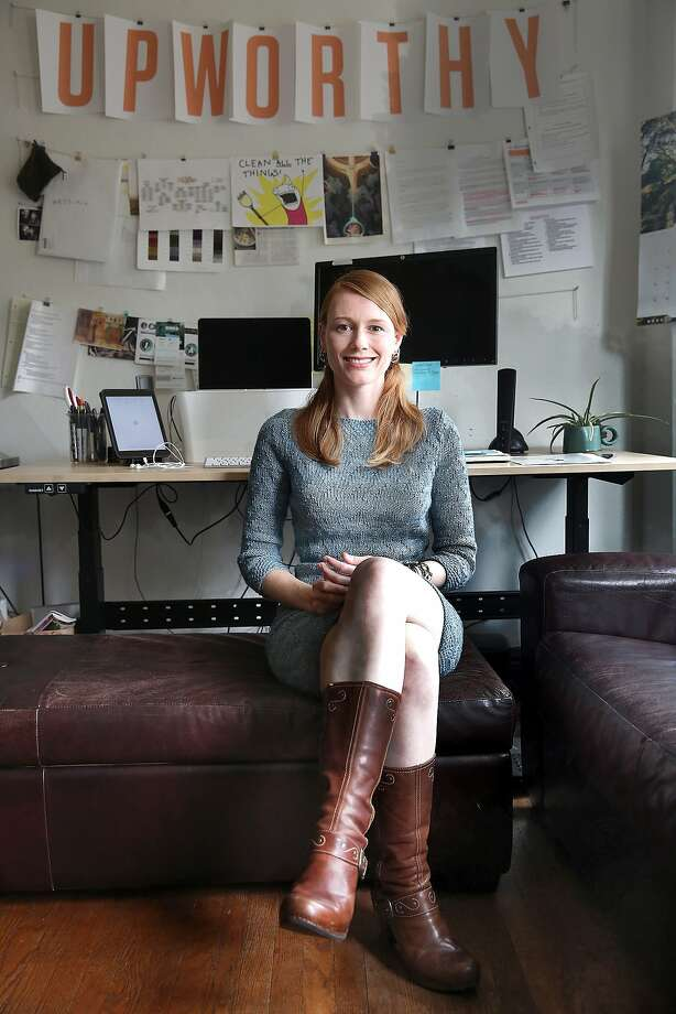 Upworthy's new female engineering lead Rachel Fenn supports women in the tech industry in San Francisco, California, on Wednesday, May 20, 2015. Photo: Liz Hafalia, The Chronicle