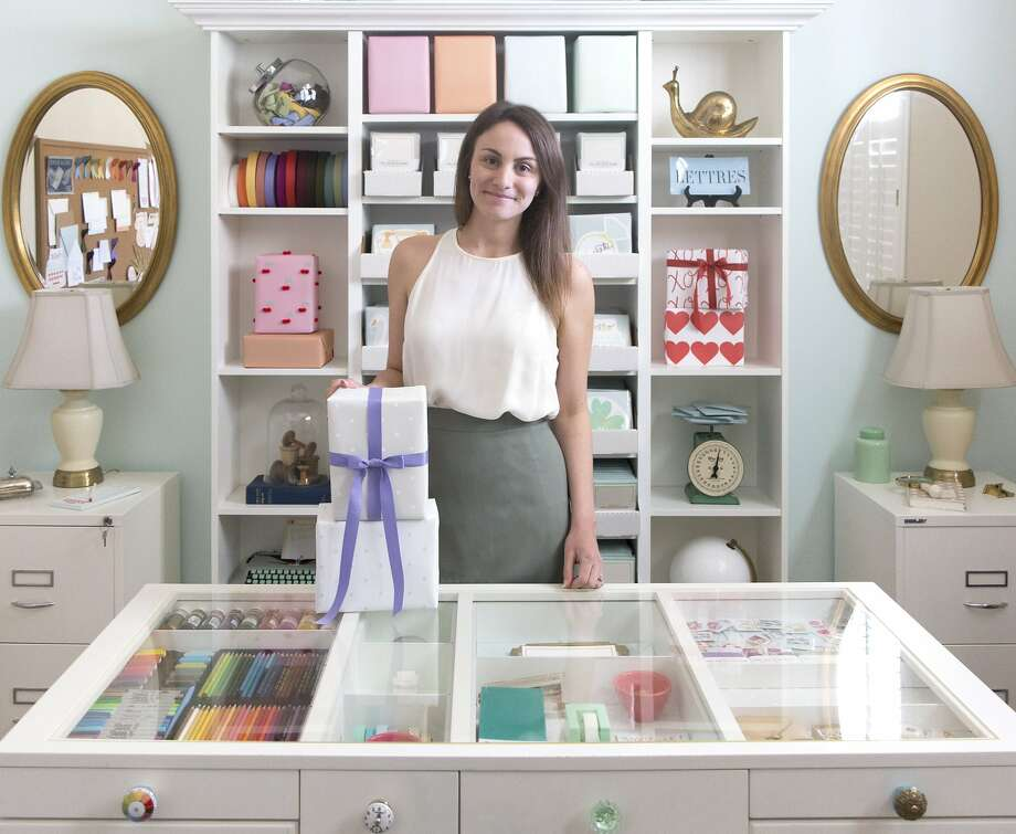Love. Luck. Kisses & Cake founder and creative director Katelyn Wood in her studio. Photo: Love. Luck. Kisses & Cake