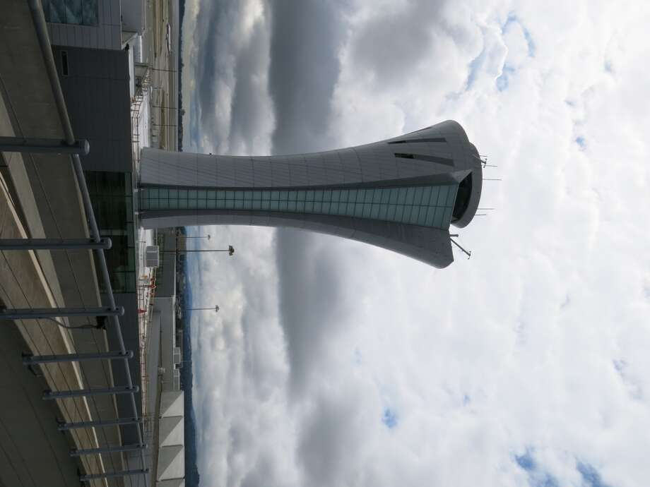The new air traffic control tower at San Francisco International Airport (SFO).  (Photos by Michael Taylor)