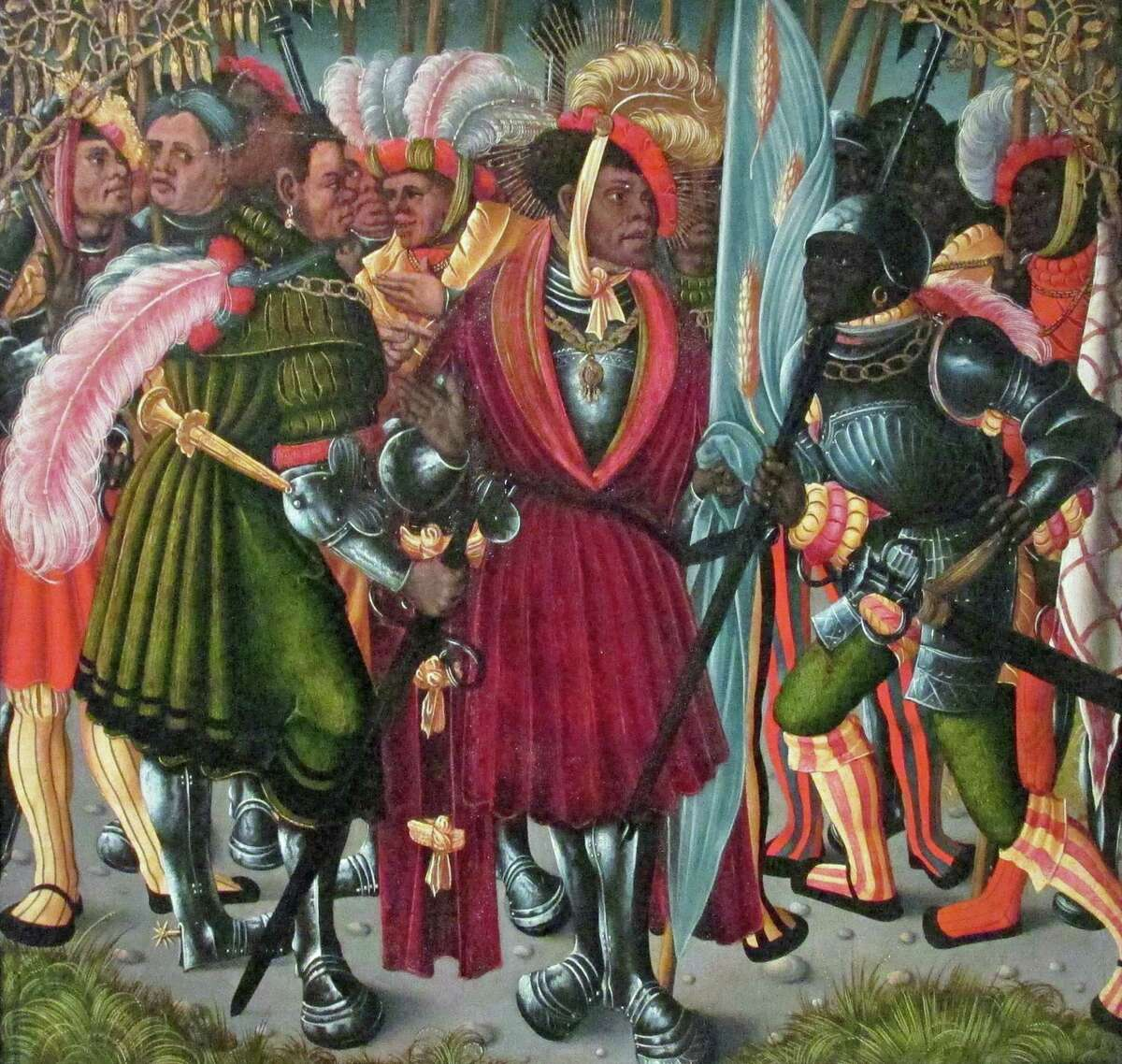 """Also exhibited in Maryan Ainsworth's exhibit """"Cranach's Saint Maurice"""" is painting from the same period, ìSaint Maurice and the Theban Legion,î from the collection of former Greenwich resident Marei von Saher."""
