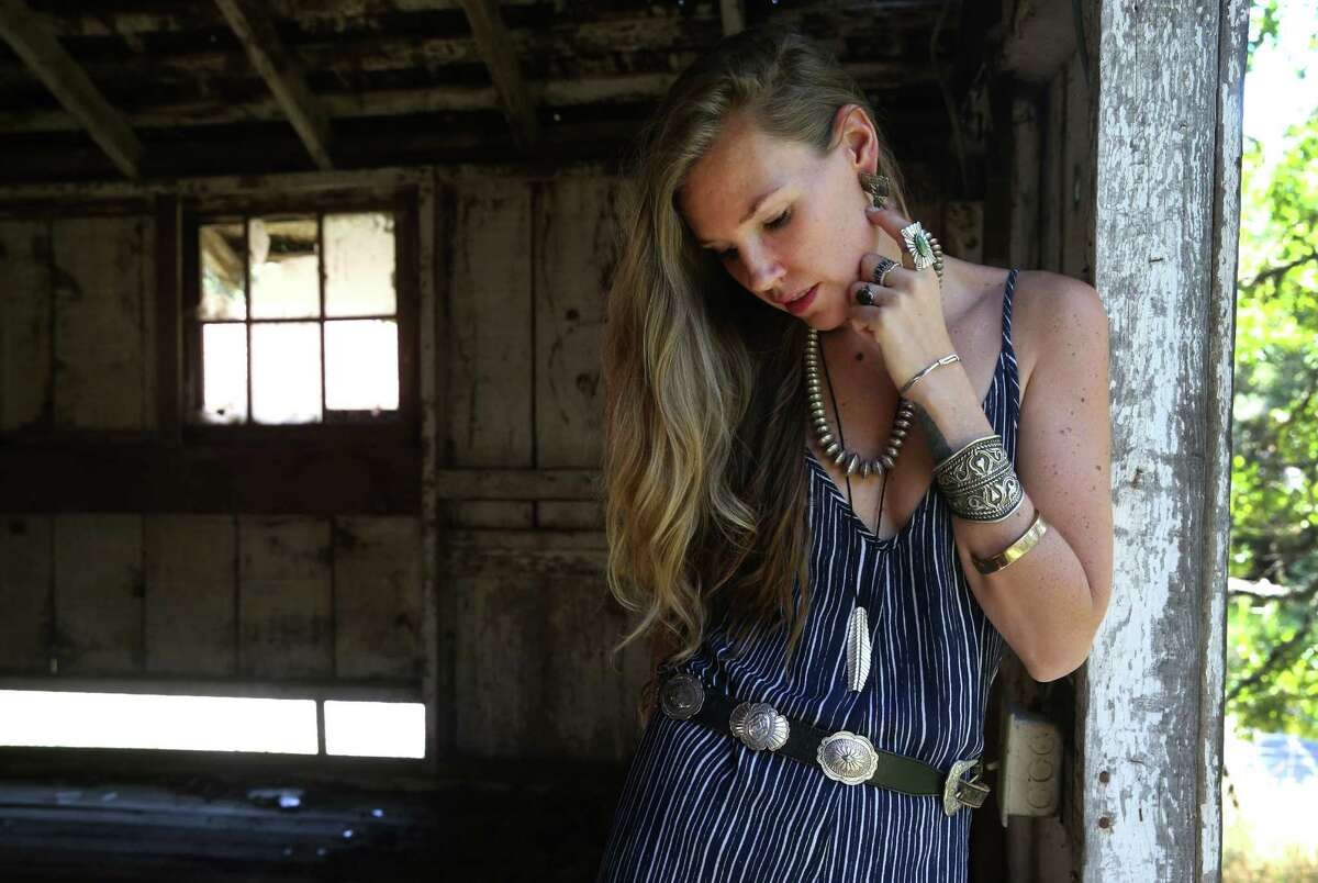 Sonoma County stylist Amy Soderlind models fashion ensembles for upcoming music festivals. She works frequently with the brand Free People, and with musicians.
