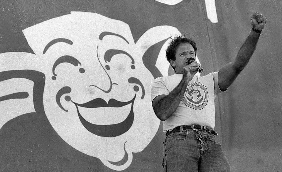7/25/1987 Robin Williams performs during Chronicle Comedy Day at the Polo Fields in Golden Gate Park. Photo: Deanne Fitzmaurice, The Chronicle