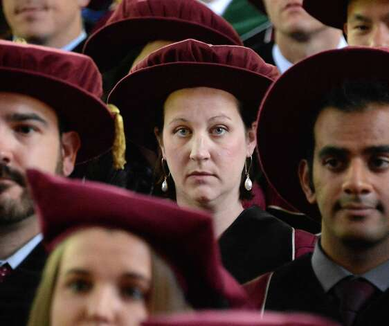 Kate Halligan of Albany during Albany Medical College Commencement Thursday May 21, 2015 in Saratoga Springs, NY.  (John Carl D'Annibale / Times Union) Photo: John Carl D'Annibale / 00031912A