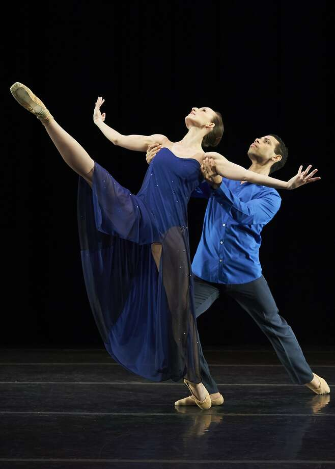 "Emily Kerr and Taurean Green dance the premiere of Betsy Erickson's ""A Moment — a Lifetime."" Photo:  David DeSilva"