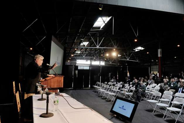 Former Assemblyman, Jack McEneny talks about the history of the Port of Albany during the Albany Port District Commission 2nd Annual Port Industry Day on Thursday, May 21, 2015, in Albany, N.Y.   (Paul Buckowski / Times Union) Photo: PAUL BUCKOWSKI / 00031941A