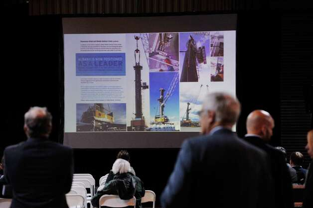 Attendees listen to a speaker at the Port of Albany during the Albany Port District Commission 2nd Annual Port Industry Day on Thursday, May 21, 2015, in Albany, N.Y.   (Paul Buckowski / Times Union) Photo: PAUL BUCKOWSKI / 00031941A