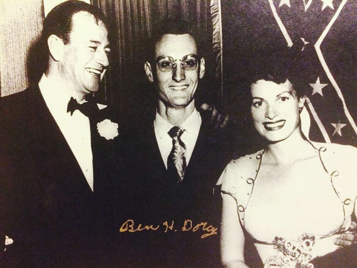 Ben Dorcy with Maureen O'Hara and John Wayne in the mid-'50s.