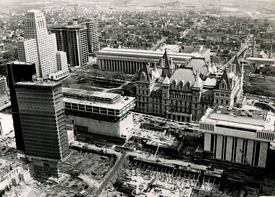 View of the Capitol from Corning Tower during construction of the South Mall May 17, 1970, in Albany, N.Y. Historic Empire State Plaza. Photo: Times Union Archive
