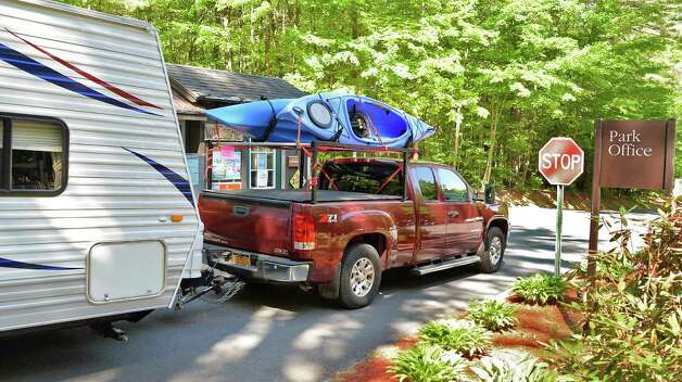 Campers arrive at Moreau Lake State Park for the holiday weekend Friday May 22, 2015 in Gansevoort, NY.  (John Carl D'Annibale / Times Union) Photo: John Carl D'Annibale / 00031933A