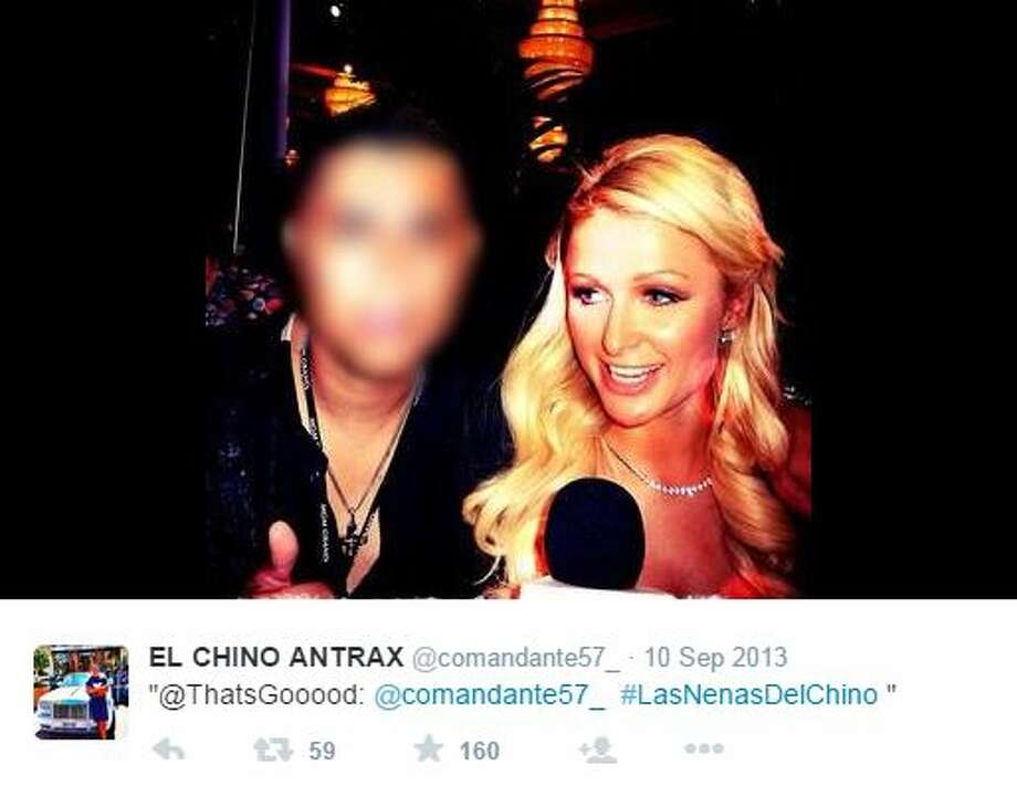 """Jose Rodrigo Arechiga Gamboa — known as """"Chino Antrax,"""" a high-ranking enforcer for the Sinaloa cartel — shared his exploits on social media prior to his capture in December 2013. He pleaded guilty earlier May 20, 2015, to helping smuggle marijuana and cocaine into the United States. Photo: Screenshot Via Twitter"""