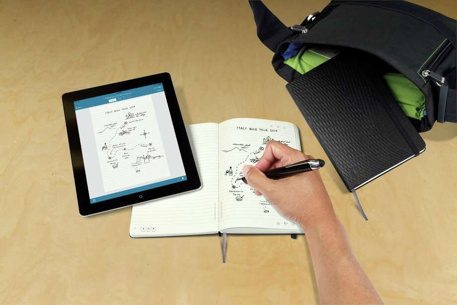 Livescribe 3 smartpen, which writes like a ballpoint pen and sends handwriting and doodles to a smartphone or tablet. Photo: Courtesy Photos