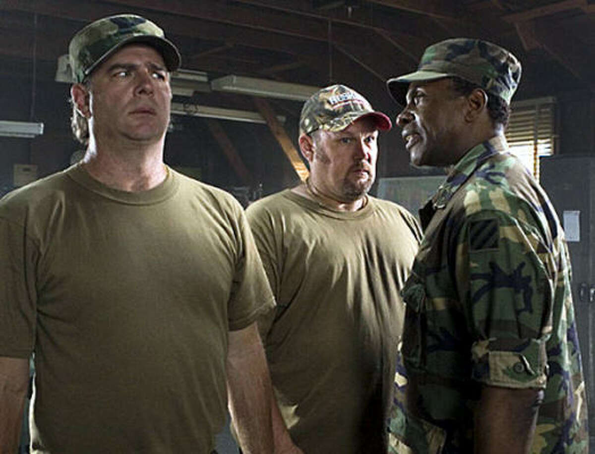 Delta Farce (2007) Rotten Tomatoes Rating: 5 percent Starring:Bill Engvall, Larry the Cable Guy and Keith David Director: C.B. Harding Synopsis: A group of blue collar workers are mistaken for Army Reservists. They are then mistakenly dropped in Mexico.
