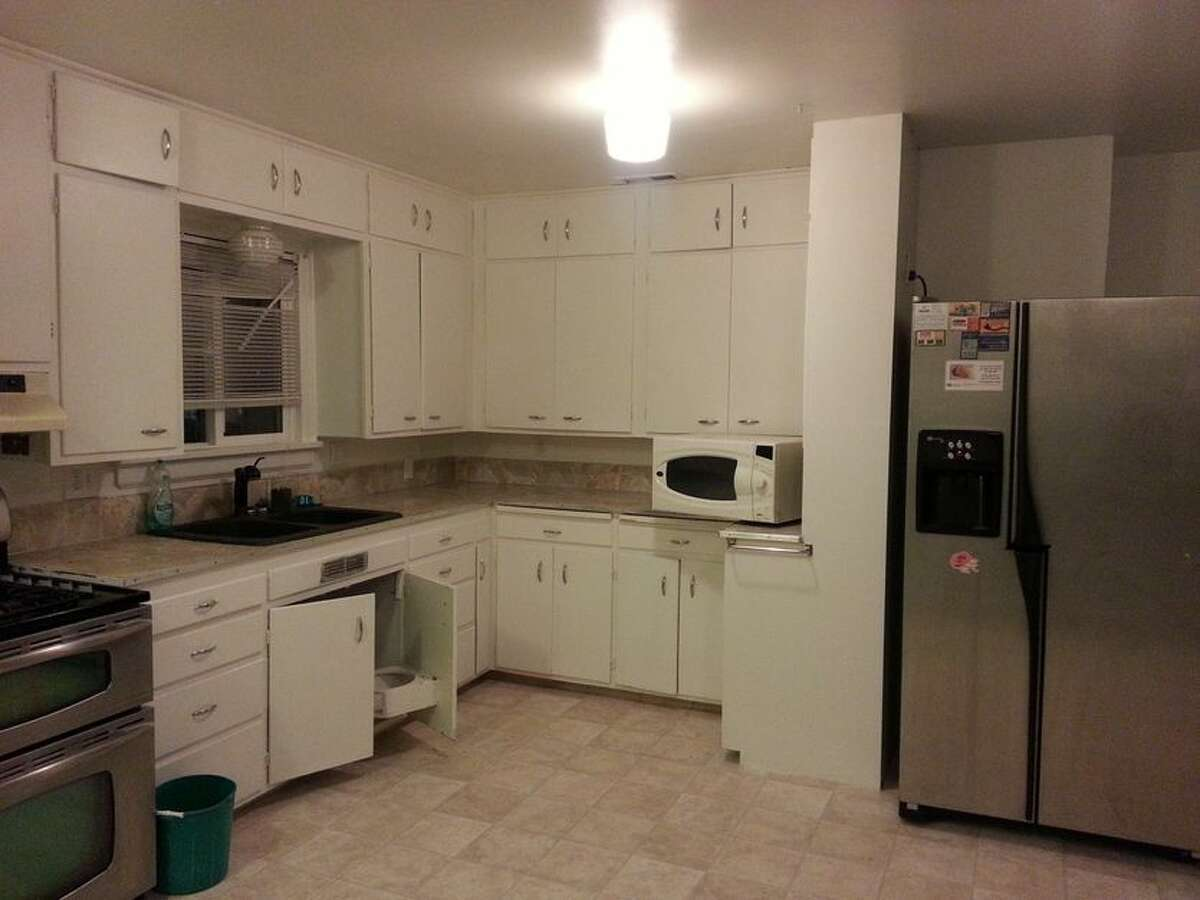 A before image of the kitchen.