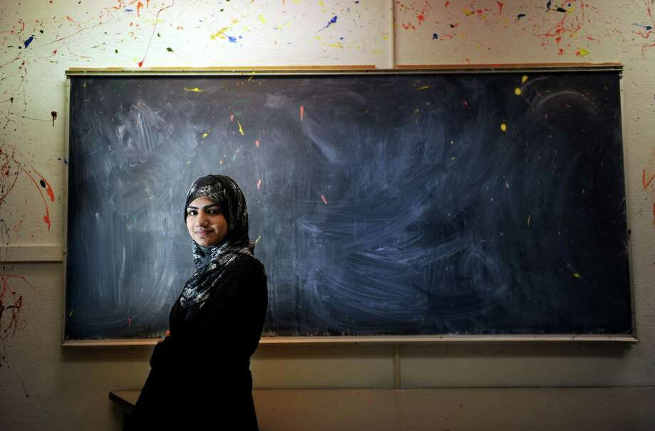 Anmol Tabassum moved to Bridgeport from Pakistan in 2010. She will soon graduate from Bassick High School at the top of her class and is going to Fairfield University next fall. Photo: Autumn Driscoll / Connecticut Post