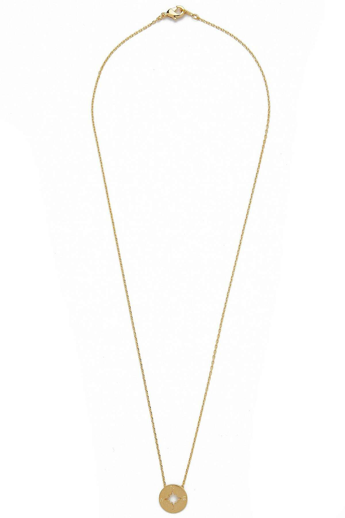 Modern Citizen's Going Places Pendant Necklace in gold, rose gold, or silver. $38 each.