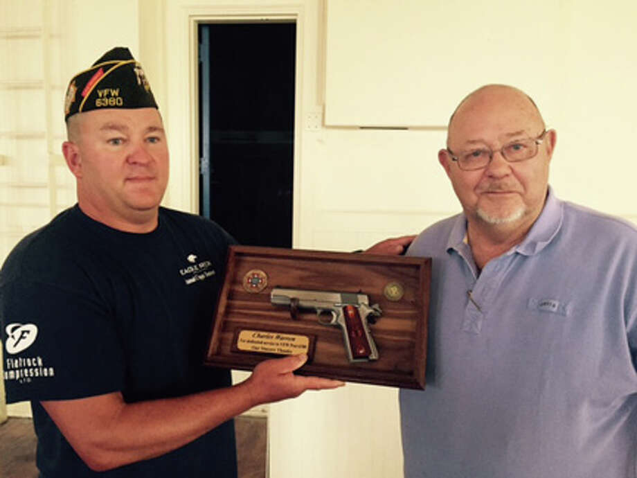 VFW Post Commander Buck Collins and Charles Warren photo by Buck Collins