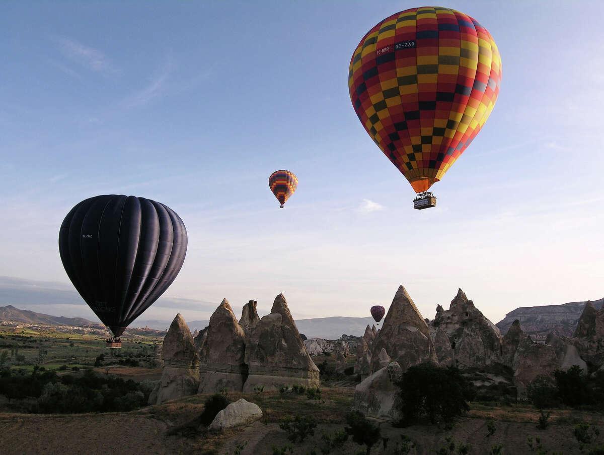 19. Take a hot air balloon ride over Cappadocia, Turkey.