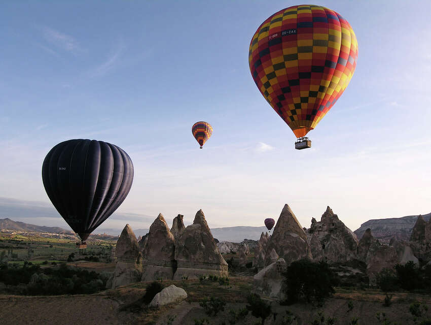 19. Take a hot air balloon ride over Cappadocia, Turkey.