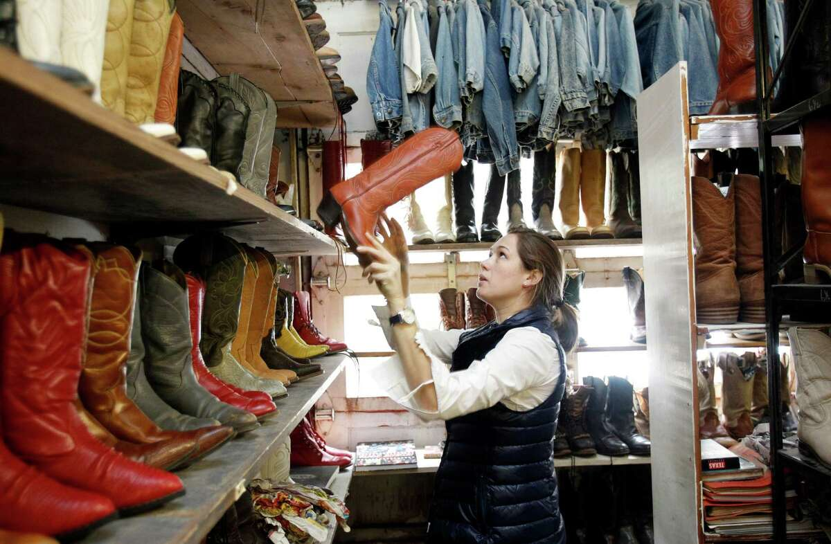 11 a.m. Rummaging  At Texas Junk Company in Montrose chat with owner Bob Novotney about his travels across the United States as you try on used cowboy boots. Ask him about that secret stash of magazines near the cash register. Buy a weird old trophy and display it proudly at work.