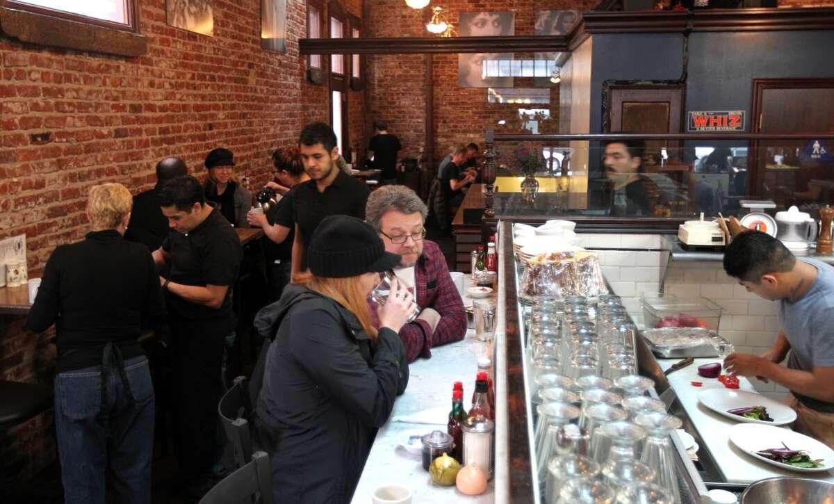 Customers dine at Dottie's True Blue Cafe.