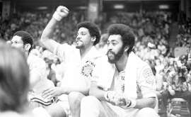 Golden State Warriors vs the Washington Bullets in Game 3 of the  NBA championship.  Derreck Dickey (l) Steve Bracey (r) Photos shot 05/23/1975