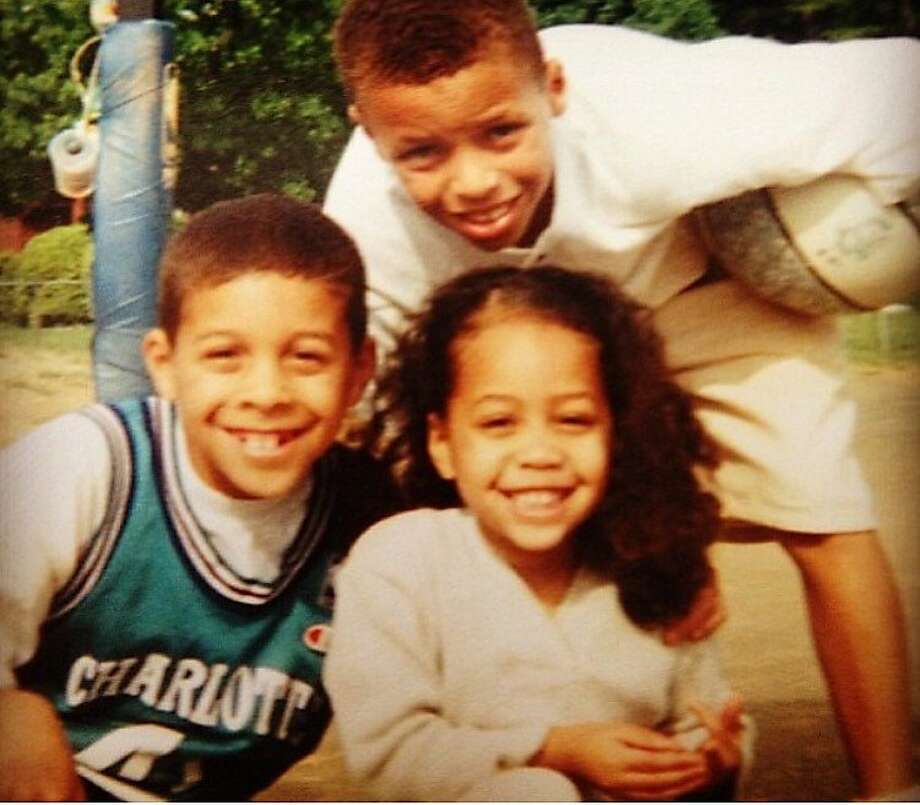 The athletic genes among the Curry siblings are not limited to NBA MVP Stephen. His brother Seth played at Duke and still hopes to play in the NBA and his sister Sydel was a volleyball player at Elon University in North Carolina. Photo: Curry Family