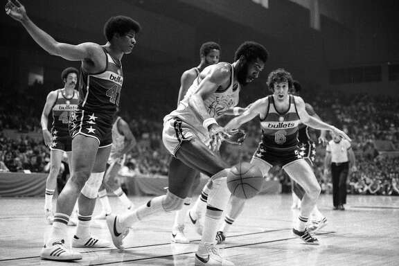 Golden State Warriors vs the Washington Bullets in Game 2 of the  NBA championship.  Clifford Ray Photos shot 05/20/1975