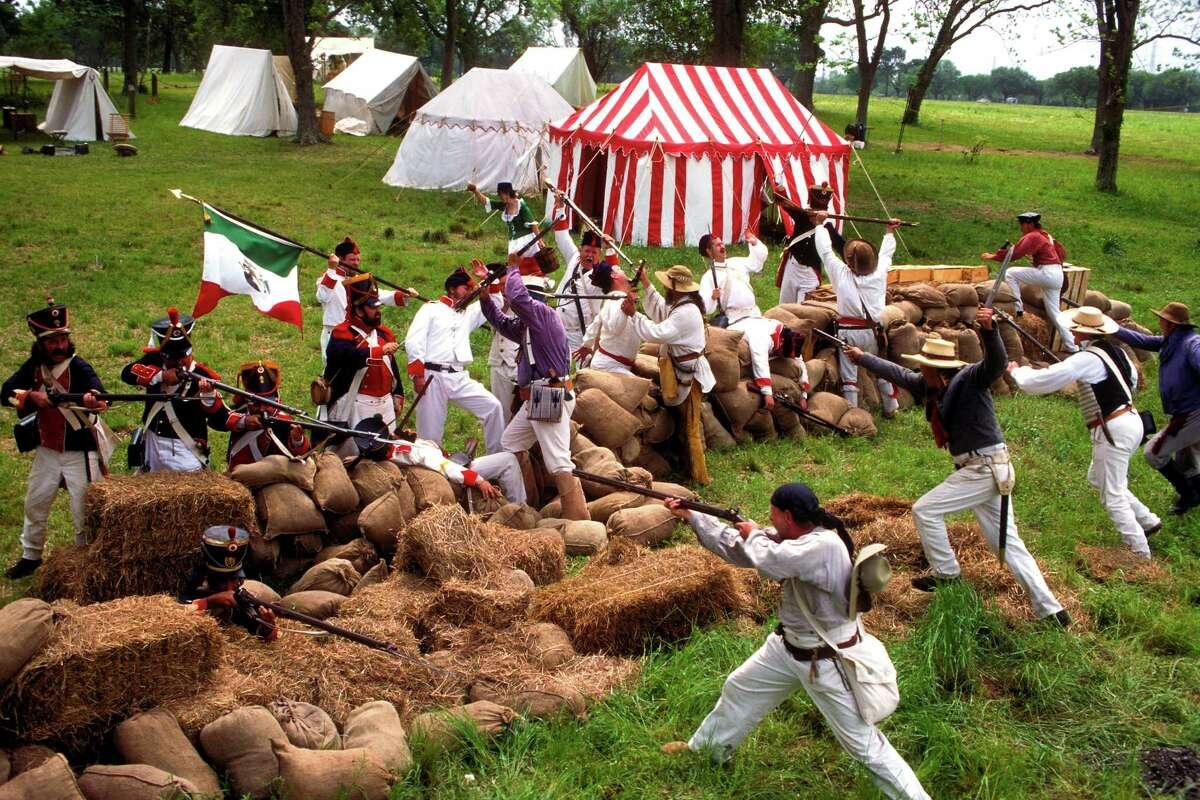 San Jacinto Battlegrounds Location: La Porte Texas Independence Trail says: