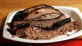 Slices of brisket at Roegels Barbecue Co. on Voss, Thursday, April 16, 2015, in Houston. ( Karen Warren / Houston Chronicle  )