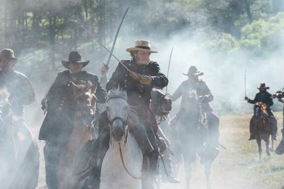 """Sam Houston, played by Bill Paxton, in """"Texas Rising"""" on History channel."""